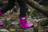 Fun Fuchsia Rain Boots - Waterproof Rubber Boots for Kids - Stonz
