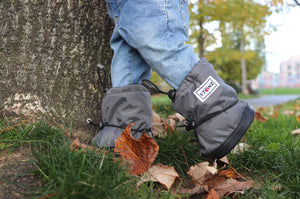 Warm Toddler Booties - Grey - Weather-resistant Boots for Babies - Children