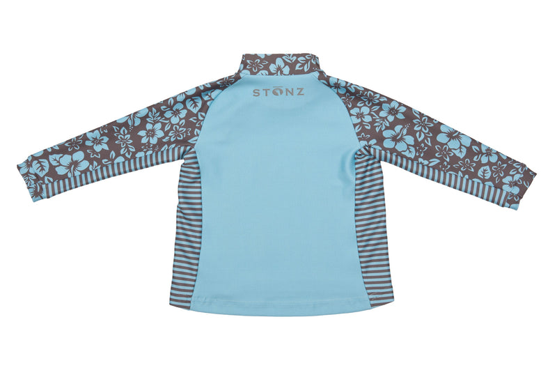 Little Kid Top - Floral Print - Raised collar to protect from sunburn for Babies- Stonz