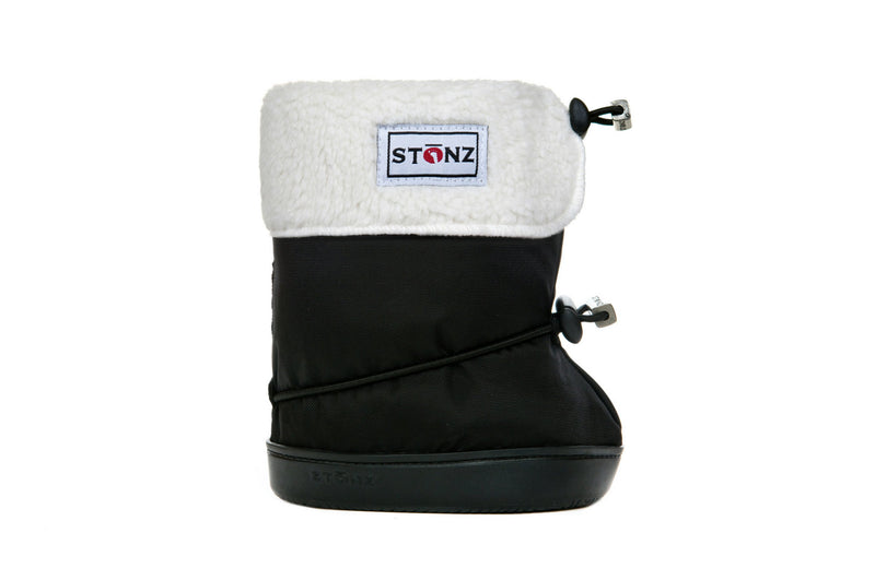 Toddler Booties with Liner - Black - Weather-resistant Boots for Children - Stonz