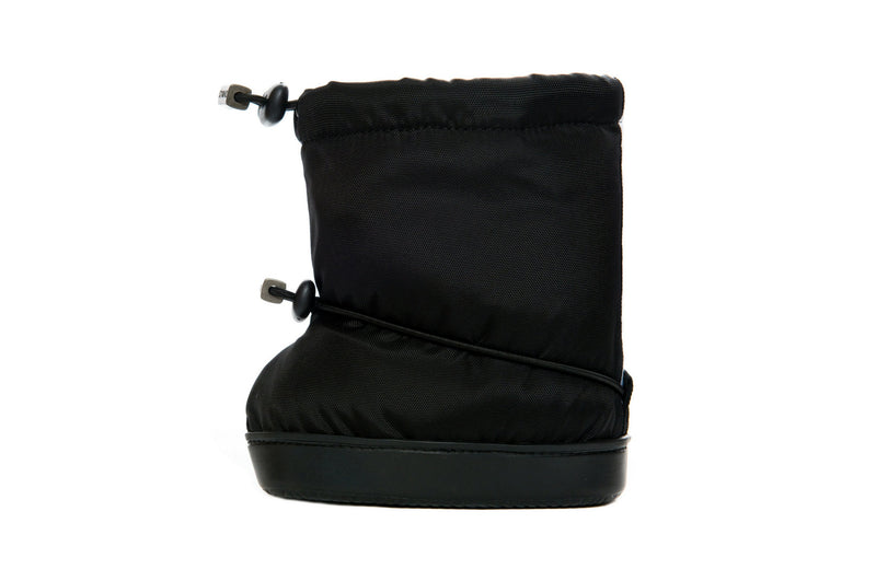 Toddler Booties - Black - Side View - Weather-resistant Boots for Children - Stonz