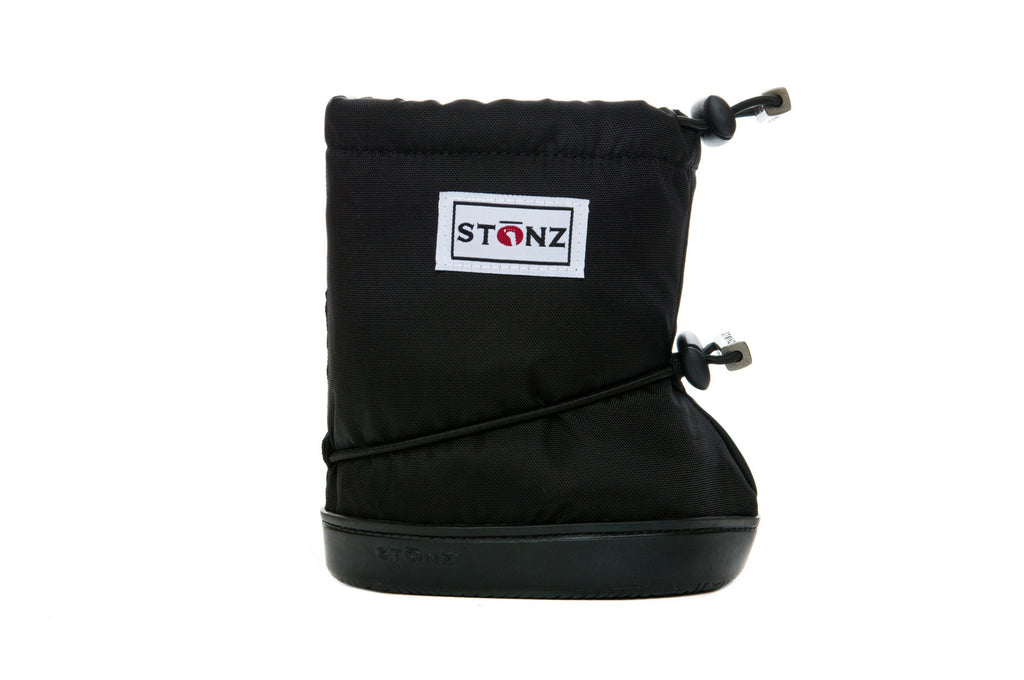Toddler Booties - Black - Front View - Weather-resistant Boots for Children - Stonz