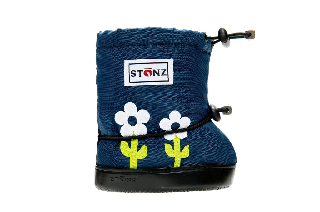 Toddler Booties - Flowers - Front View - Weather-resistant Boots for Children - Stonz