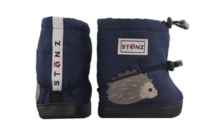 Toddler Booties - Hedgehog - Midnight Blue