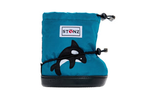 Toddler Booties - Orca - Front View - Weather-resistant Boots for Children - Stonz