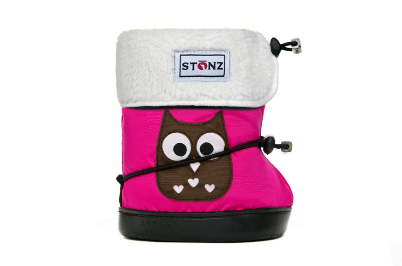 Toddler Booties with Liner - Owl - Weather-resistant Boots for Children - Stonz