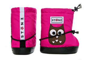 Toddler Booties - Owl - Weather-resistant Boots for Babies - Children