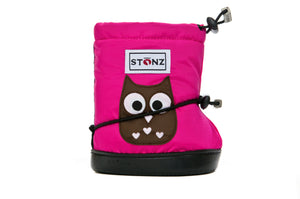 Toddler Booties - Owl - Front View - Weather-resistant Boots for Children - Stonz
