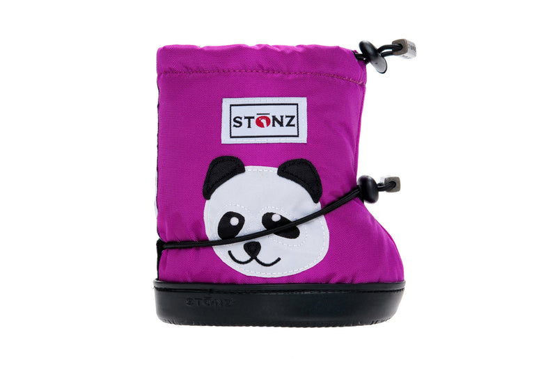 Toddler Booties - Panda - Front View - Weather-resistant Boots for Children - Stonz