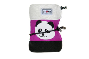 Baby Booties with Liner - Panda - Weather-resistant Boots for Babies - Stonz