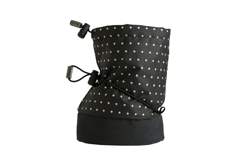 Baby Booties - Polka Dot Black & White