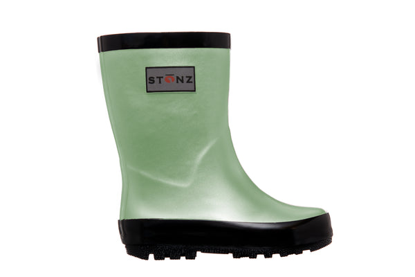 Rain Boots - Metallic - Mint Green