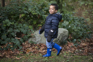 Fun Blue Rain Boots - Waterproof Rubber Boots for Kids - Stonz