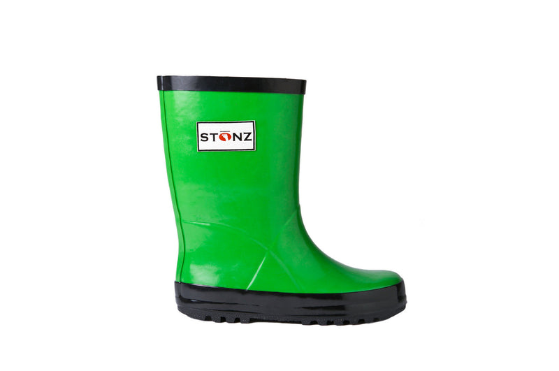 Green Rain Boots - Waterproof Rubber Boots for Kids - Stonz