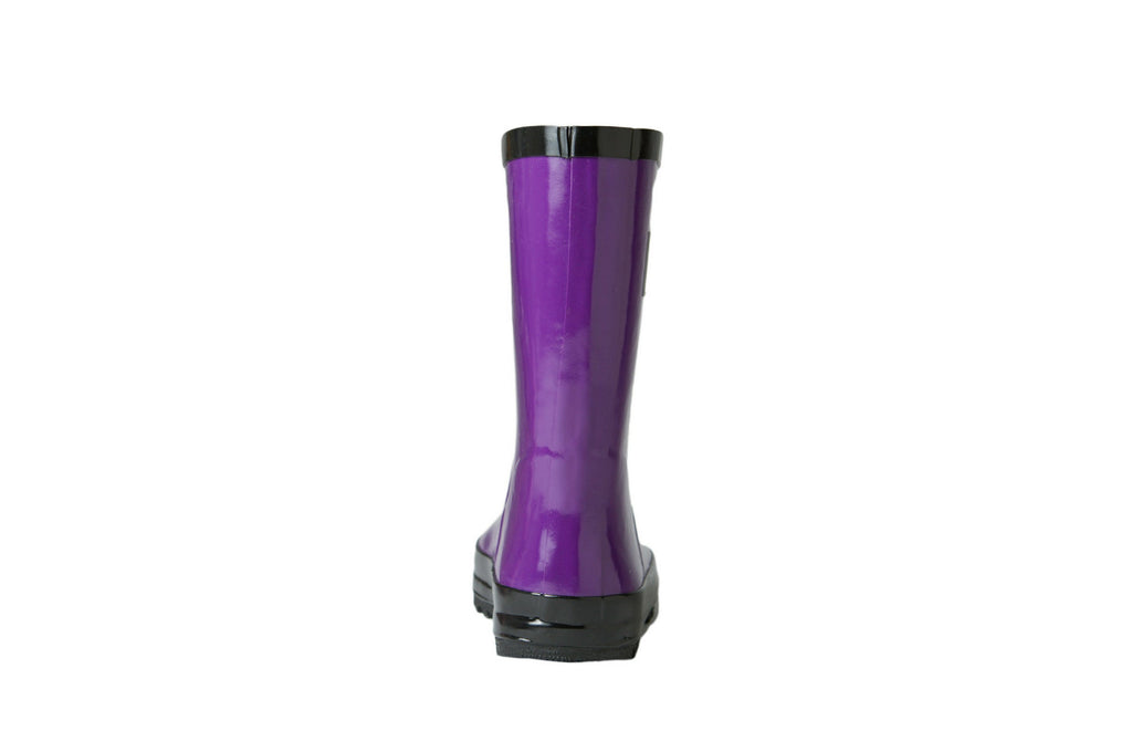 Purple Rain Boots - Back View - Waterproof Rubber Boots for Kids - Stonz