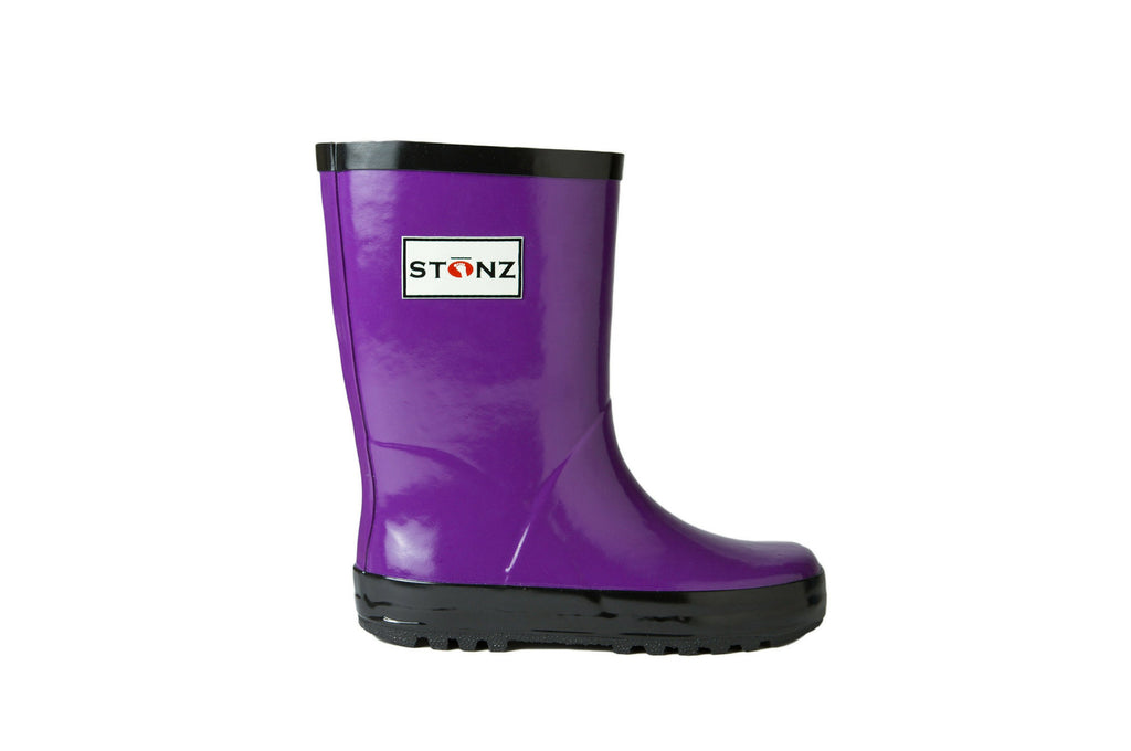 Purple Rain Boots - Waterproof Rubber Boots for Kids - Stonz