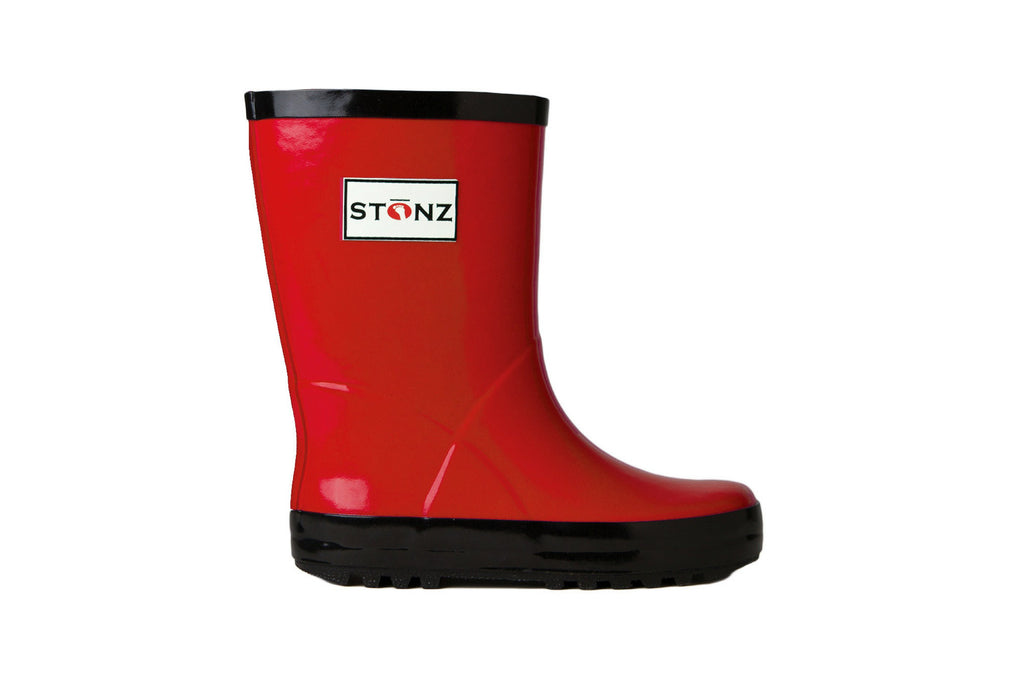 Red Rain Boots - Waterproof Rubber Boots for Kids - Stonz