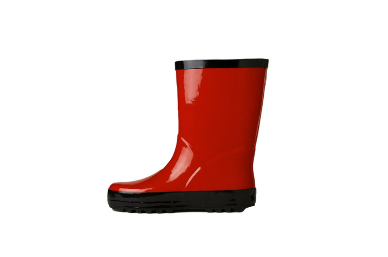 Red Rain Boots - Side View - Waterproof Rubber Boots for Kids - Stonz