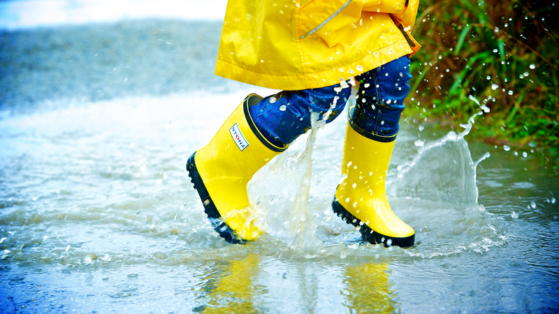 Fun Yellow Rain Boots - Waterproof Rubber Boots for Kids - Stonz