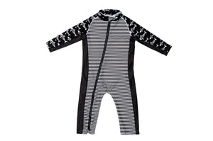 Sun Suit - Black Stripes Print - UPF 50 Sunwear Collection for Babies - Stonz