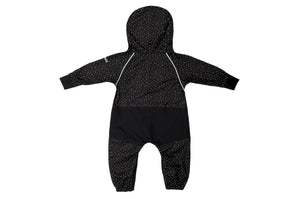 Rain Suit - Reflective Polka Dot - Black/Silver