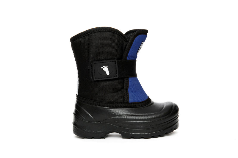 Slate Blue and Black Scout - Weather-resistant Winter Boots for Kids - Stonz