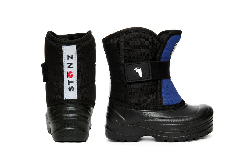 Slate Blue and Black Scout - Extra wide opening - Weather-resistant Winter Boots for Kids - Stonz