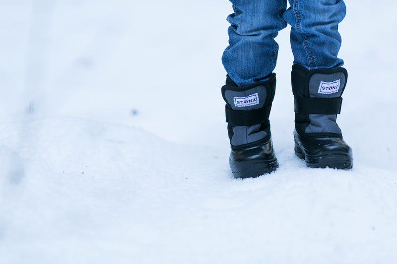 Grey and Black Scout - Lightest kid's winter boot on the market - Stonz