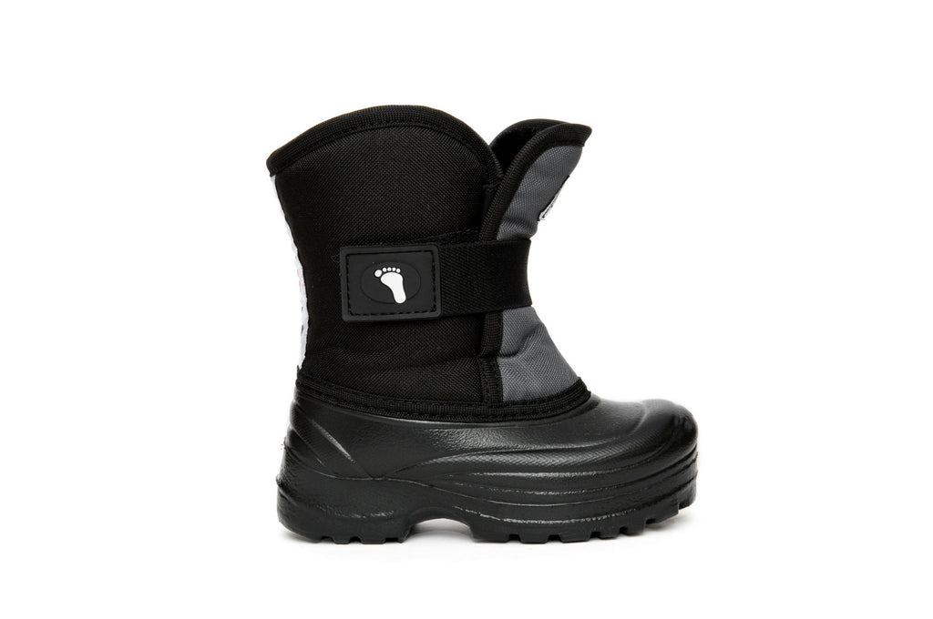 Grey and Black Scout - Weather-resistant Winter Boots for Kids - Stonz