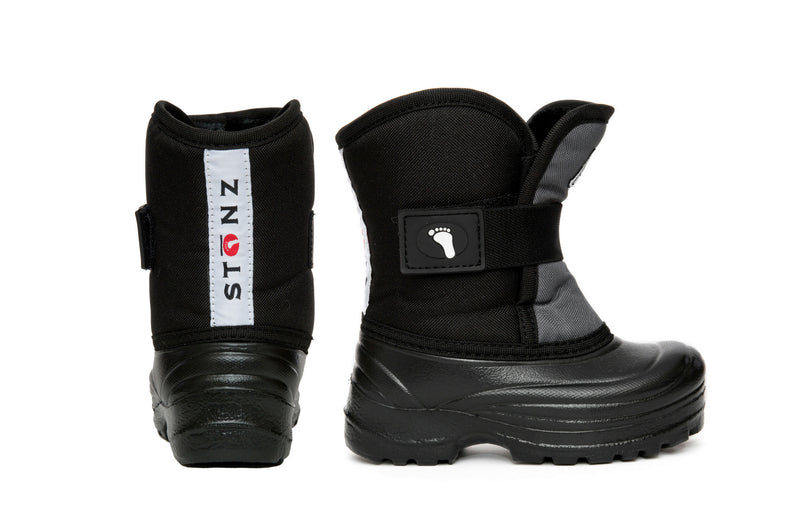 Grey and Black Scout - Extra wide opening - Weather-resistant Winter Boots for Kids - Stonz