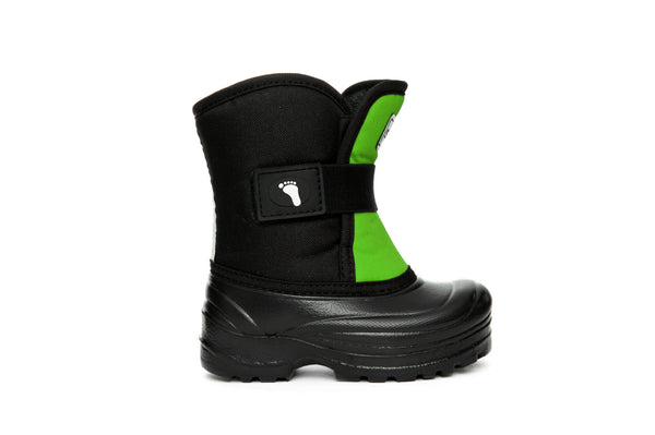 Lime and Black Scout - Weather-resistant Winter Boots for Kids - Stonz