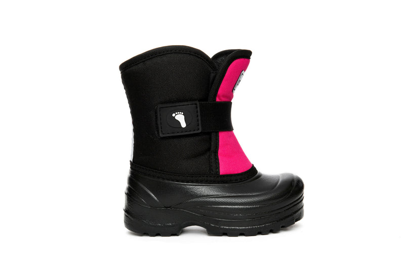 Pink and Black Scout - Weather-resistant Winter Boots for Kids - Stonz