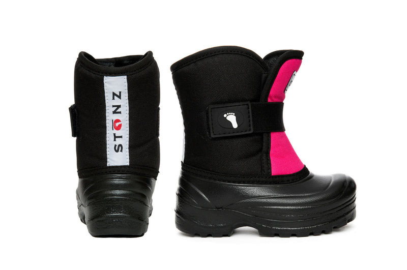 Pink and Black Scout - Lightest kid's winter boot on the market - Stonz