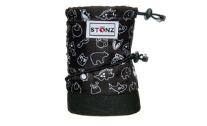 Baby Booties - Stonz Print - Black