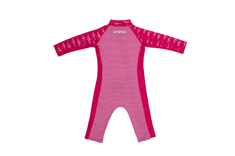 Sun Suit - Fuchsia/Shark
