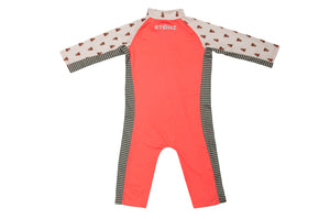 Sun Suit - Forest Trail - Coral