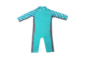 Sun Suit - Teal/Surf Board