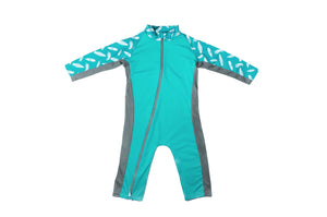Sun Suit - Teal/Surfboard
