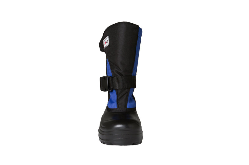 Slate Blue and Black Trek - Front View - Weather-resistant Winter Boots for Kids - Stonz