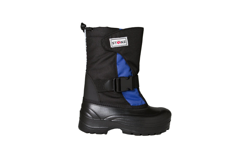 Slate Blue and Black Trek - Weather-resistant Winter Boots for Kids - Stonz