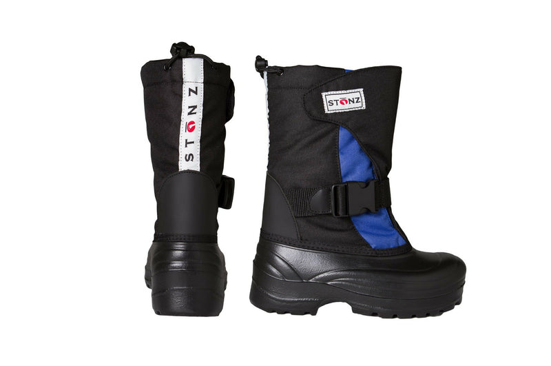 Slate Blue and Black Trek - Extra wide opening - Weather-resistant Winter Boots for Kids - Stonz