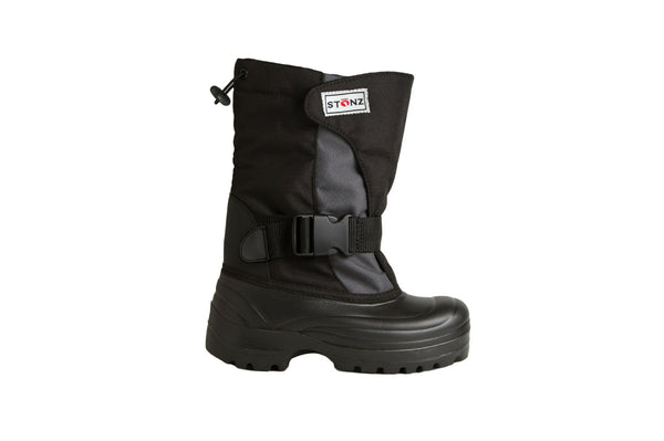 Grey and Black Trek - Weather-resistant Winter Boots for Kids - Stonz