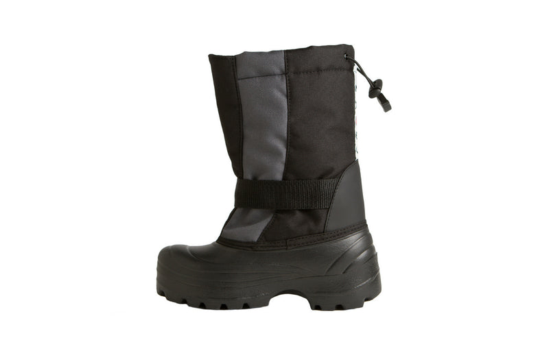 Grey and Black Trek - Side View - Weather-resistant Winter Boots for Kids - Stonz