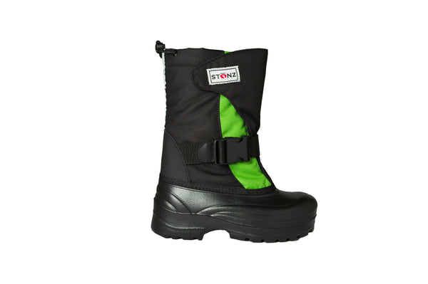 Lime and Black Trek - Weather-resistant Winter Boots for Kids - Stonz