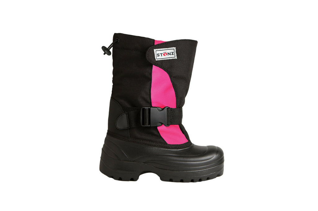 Pink and Black Trek - Weather-resistant Winter Boots for Kids - Stonz