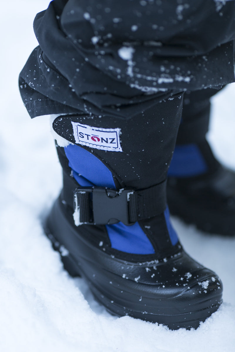 Slate Blue and Black Trek - Lightest kid's winter boot on the market - Stonz