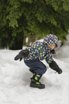Lime and Black Trek - Lightest kid's winter boot on the market - Stonz
