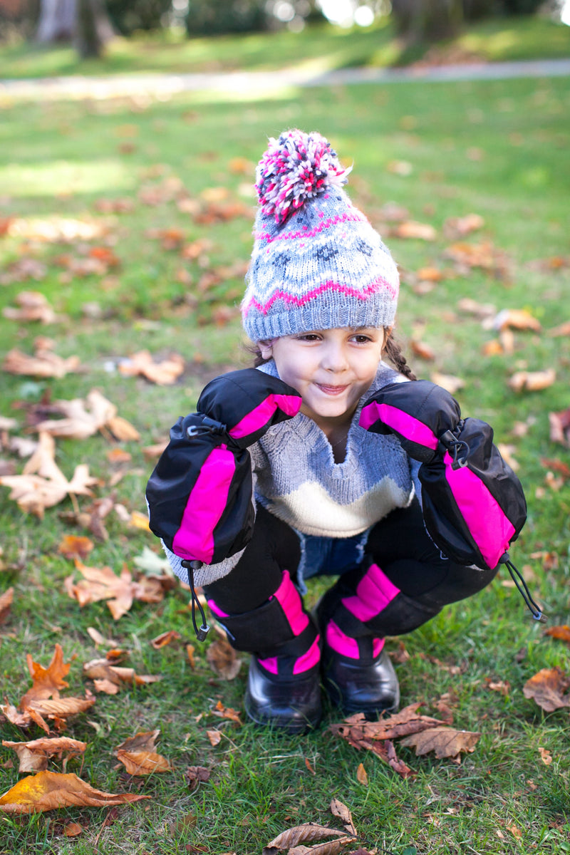 Pink and Black Trek - Lightest kid's winter boot on the market - Stonz