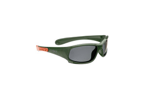 Baby Sport Sunnies  - Forest Green/Coral