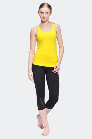 Ongasoft Yoga Tops-15003Yellow-Model